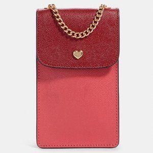 COACH Scarlet Colorblock N/S Crossbody Phone Bag